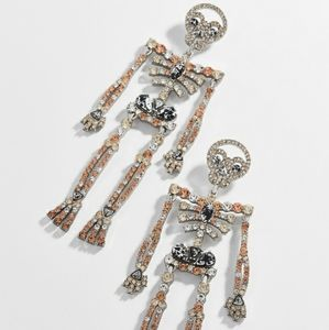 Jazzy Skeleton Drop Earrings